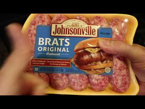 Johnsonville Brats With Green Peppers And Onions. Let's Do This !!!