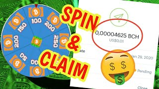 SPIN and CLAIM free BCH satoshi! INSTANT PAYMENT