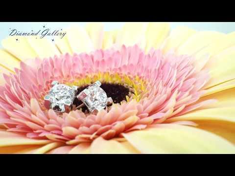 Великолепные пусеты с бриллиантами 1 карат от Diamond Gallery!