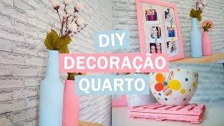 DIY - Ideias FÁCEIS e BARATAS de decoração para o quarto