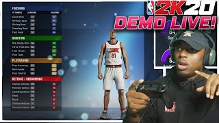 Nba 2k20 Demo LIVE!! Trying NEW MyPlayer Builder and Story LIVE!