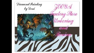 Diamond Painting Unboxing and First Impressions - Zooya Factory Store - World of Warcraft Dragons