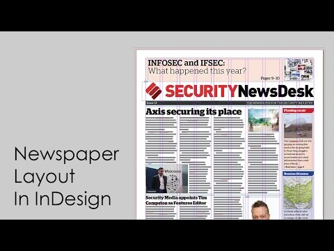 Newspaper layout in InDesign