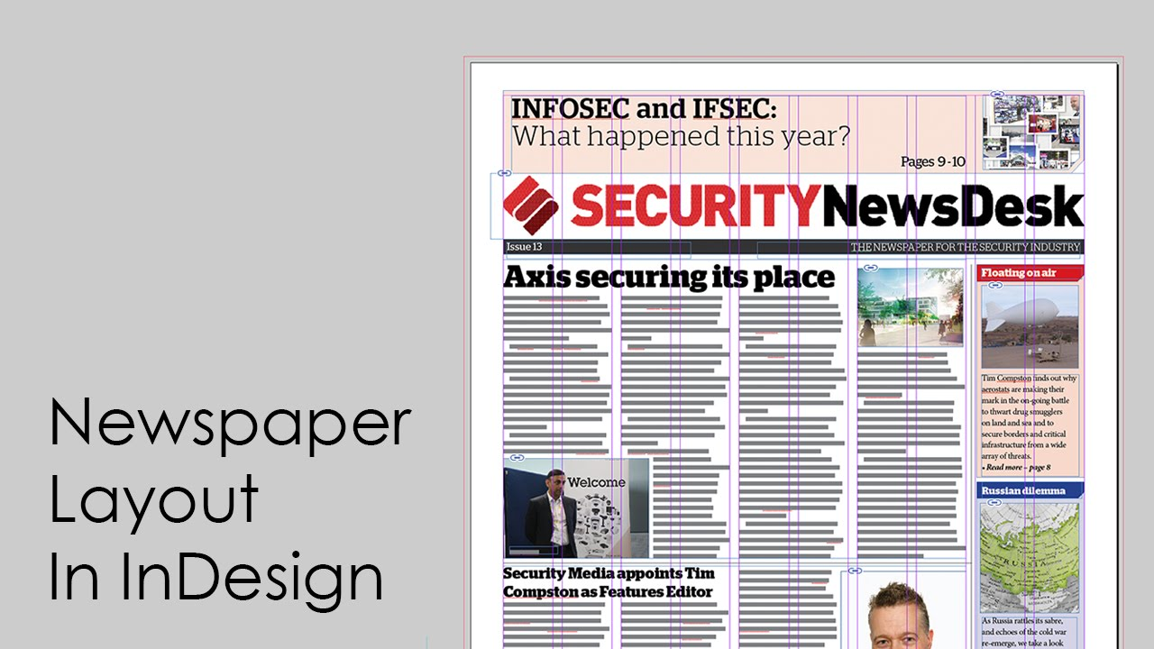 how to design a newspaper newspaper layout in indesign youtube