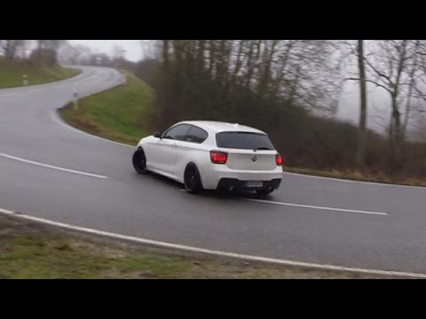 The biggest BMW M135i street Drift Compilation + Straight pipe exhaust sound