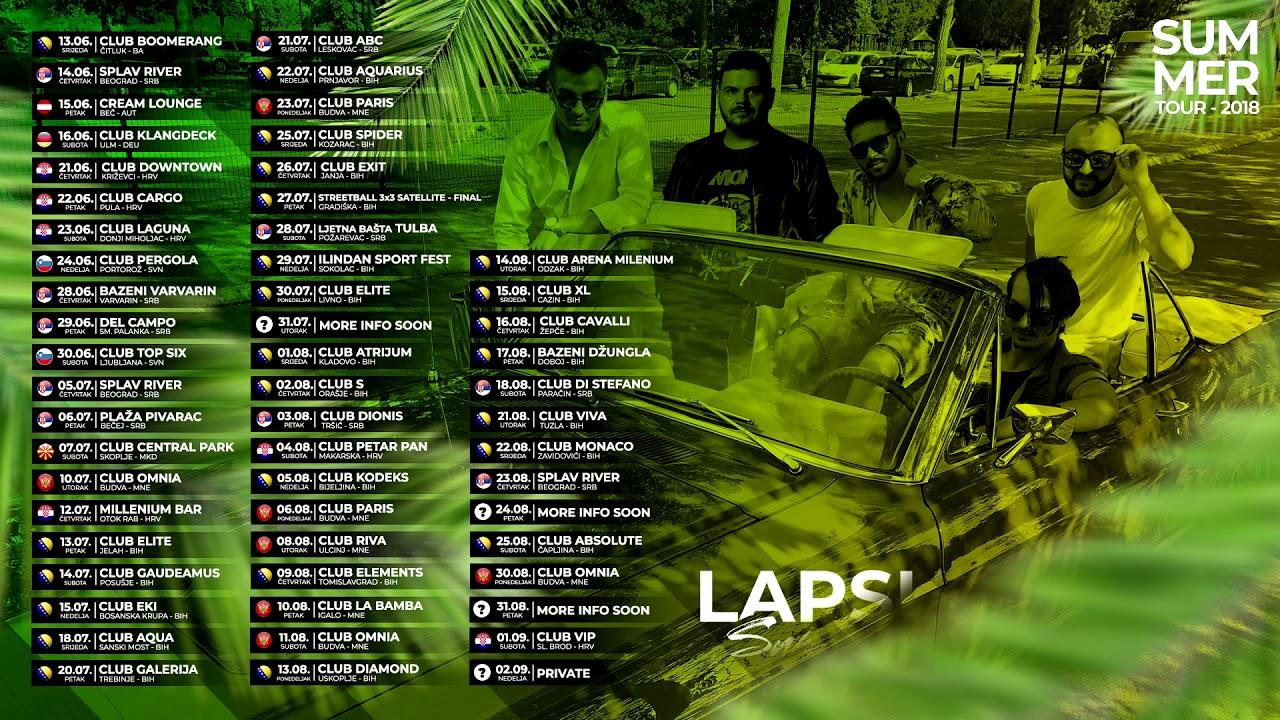 Lapsus Band - Nastupi u letnjem periodu