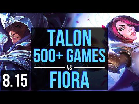 TALON vs FIORA (MID) ~ 500+ games, KDA 12/2/8, Legendary ~ Korea Challenger ~ Patch 8.15