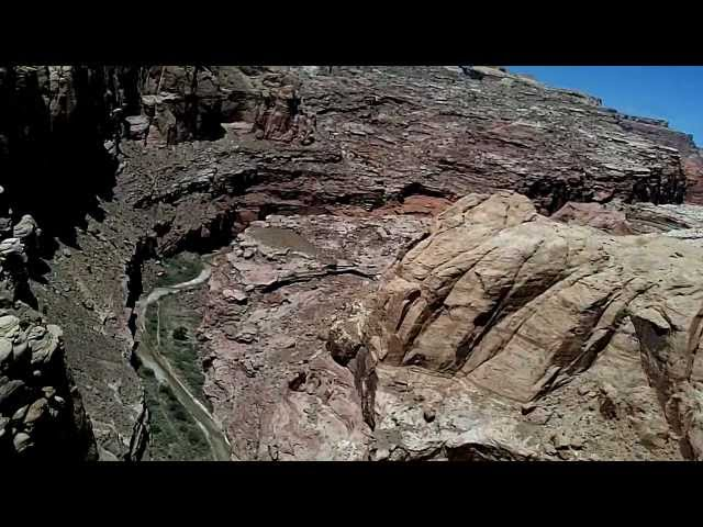 Hidden Splendor, UT - Canyon Approach and Landing (Utah backcountry ) HD