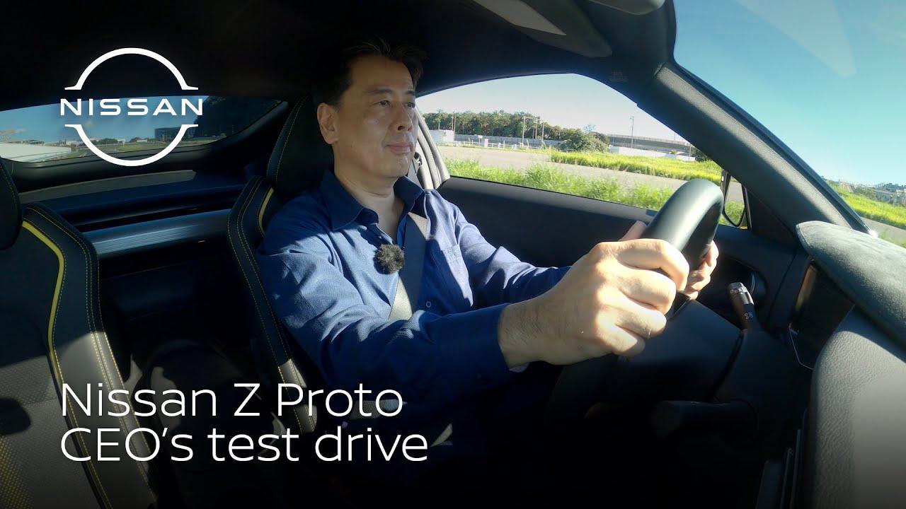 Nissan's Makoto Uchida takes the Z Proto for a spin