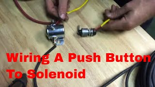how to wire a push button to solenoid on a electric hose reel - youtube  youtube