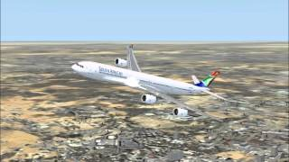 fsx south african airways johannesburg to cape town