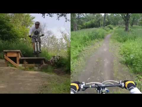 Mountain biking in Kincaid Anchorage Alaska/  Mighty Bike and Middle Earth Trails