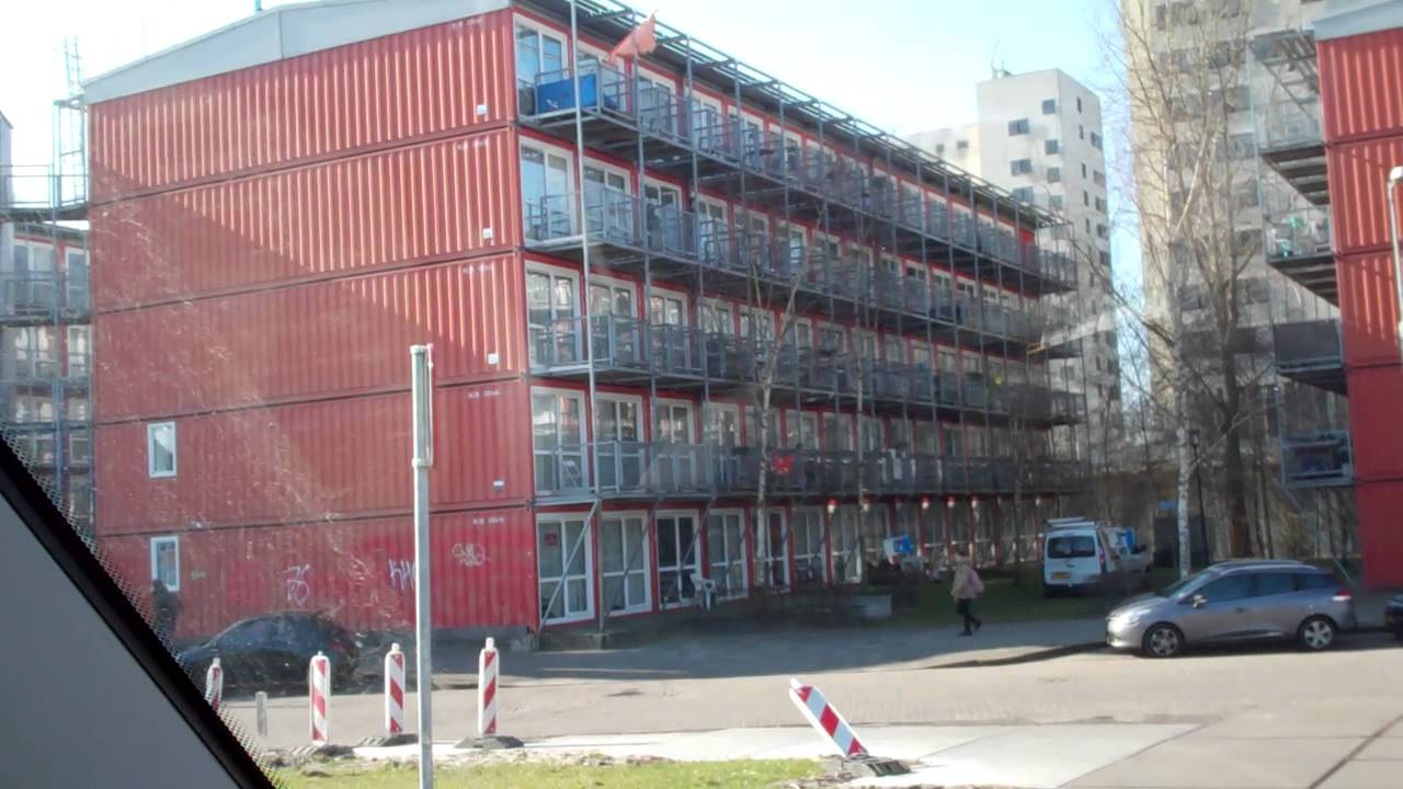 shipping container city cheap houses amsterdam holland youtube