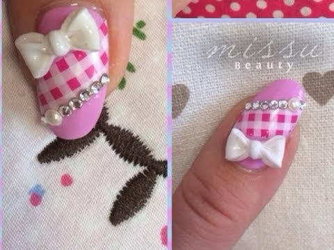 Japanese nail art tutorial3d hand folded bow youtube japanese nail art tutorial3d hand folded bow prinsesfo Image collections