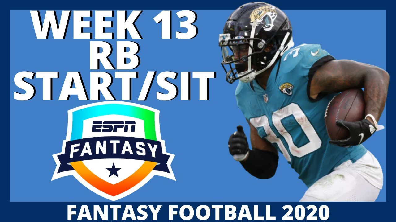 2020 Fantasy Football - Week 13 Running Backs - Start or Sit (Every Match Up)