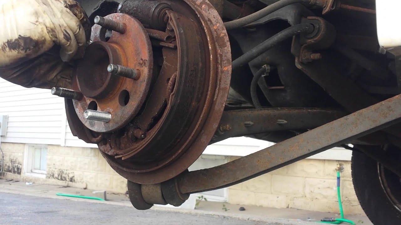 Replace broken striped studs on rear wheels - YouTube