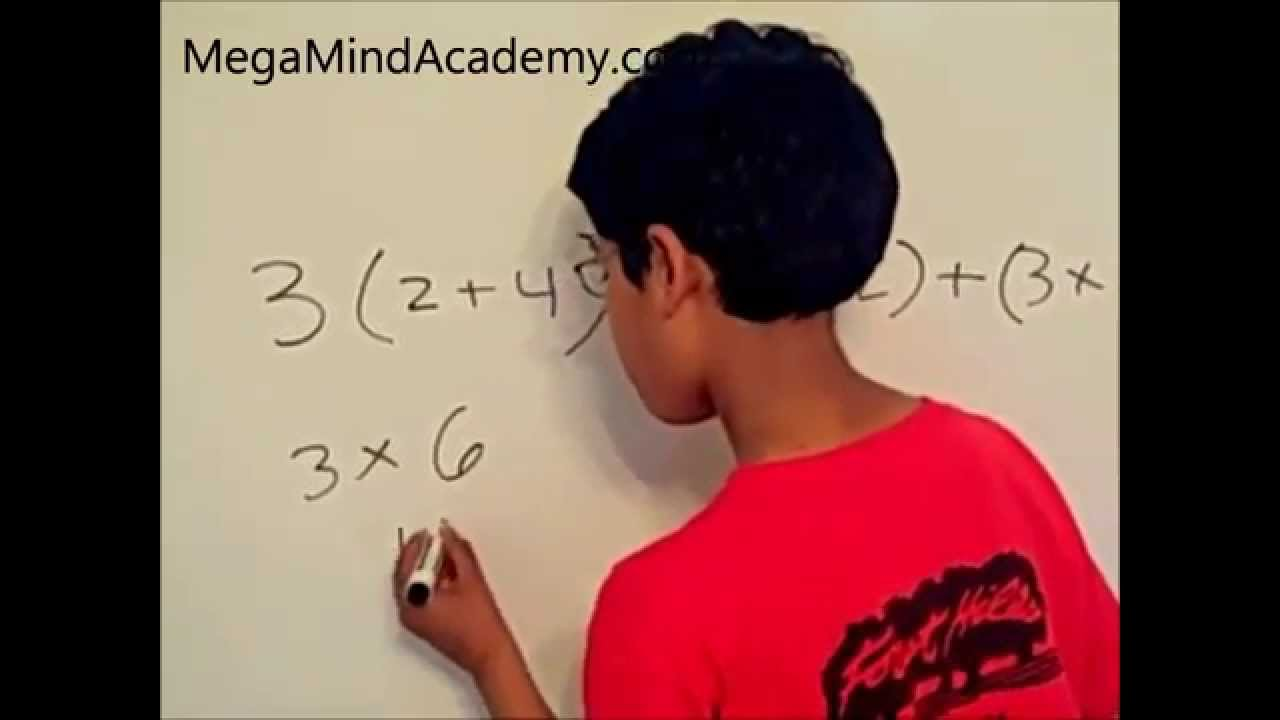 small resolution of Distributive Property of Multiplication over Addition.wmv - YouTube