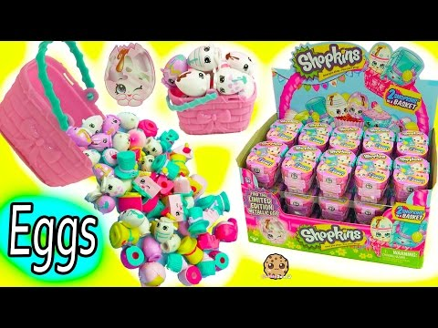 Thumbnail: Full Box Shopkins Season 7 Easter Egg Hunt Surprise Mystery Blind Bag Baskets