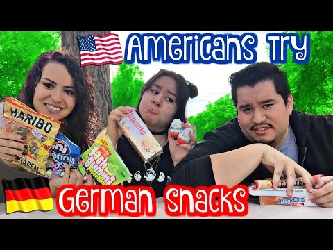 Americans Try German Snacks | Stephanie Mejia