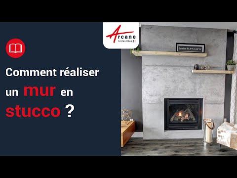 Stuc enduit stucco application décoration effet marbre