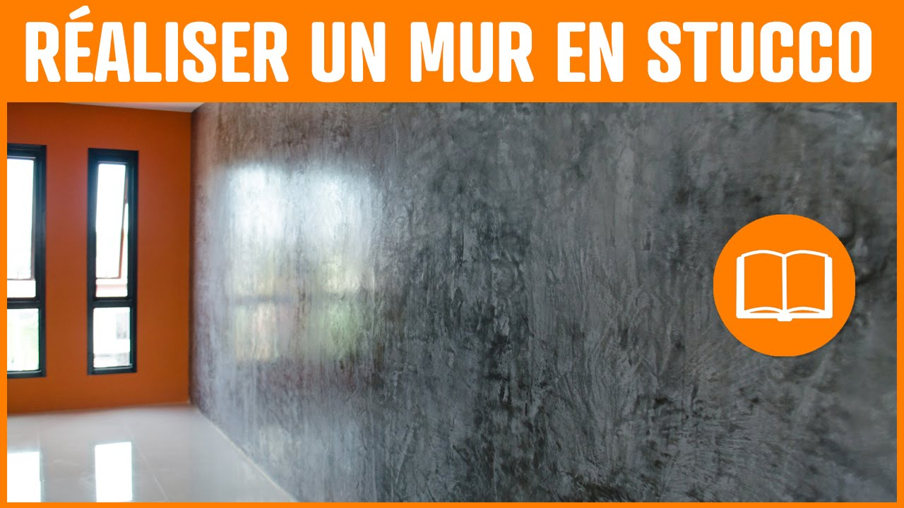 Stuc enduit stucco application décoration effet marbre - YouTube