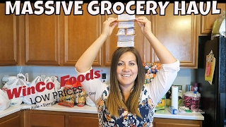 MASSIVE WINCO GROCERY HAUL | GIVEAWAY | PHILLIPS FamBam Hauls