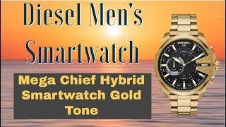 Diesel Mens Smartwatch - Diesel ON Mega Chief Hybrid Smartwatch Gold Tone