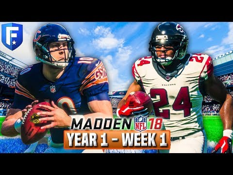 The Trubisky Era Begins | Madden 18 Bears Franchise Year 1 - Week 1 vs Falcons | Ep.2