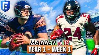 The Trubisky Era Begins | Madden 18 Bears Franchise Year 1 - Week 1 vs Falcons | Ep.2