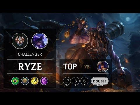 Ryze Top vs Garen - BR Challenger Patch 9.20
