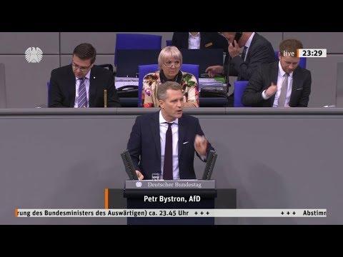 """Bundestag. """"Wir haben den schlechtesten Außenminister aller Zeiten"""" Petr Bystron, AfD 07.11.2019"""