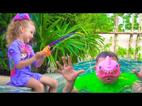 Milusik and papa Pretend Play Sea Animals Shop