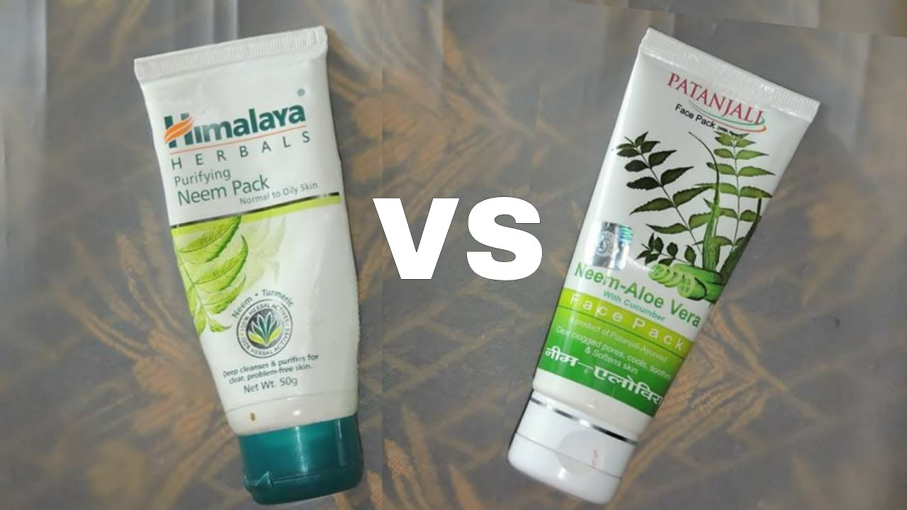 Himalaya Herbals Neem Face Pack VS Patanjali Neem Face Pack || Sayantani  Some