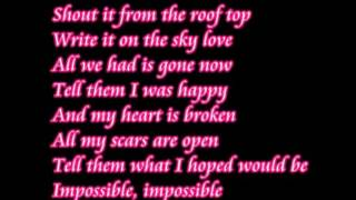 Impossible Shontelle lyrics. 10 HOURS