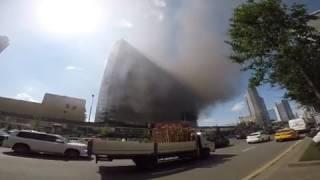 Пожар на Новом Арбате 18.07.2017