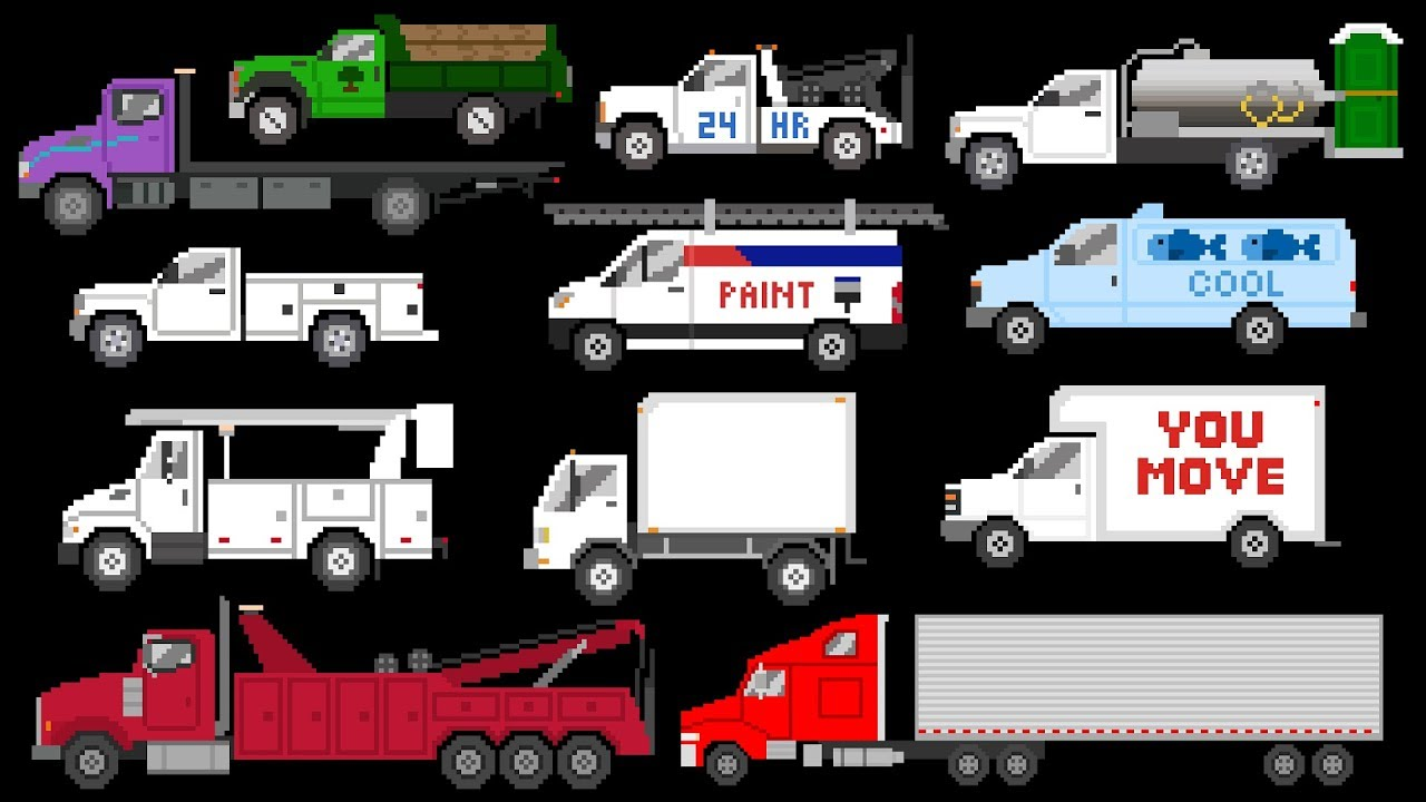 daa8d5d773 Commercial Vehicles - Trucks   Vans - The Kids  Picture Show (Fun    Educational Learning Video)