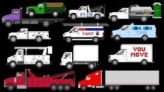 Commercial Vehicles - Trucks & Vans - The Kids' Picture Show (Fun & Educational Learning Video)