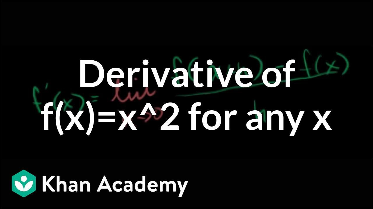 4b466d3b The derivative of x² at any point using the formal definition (video) |  Khan Academy