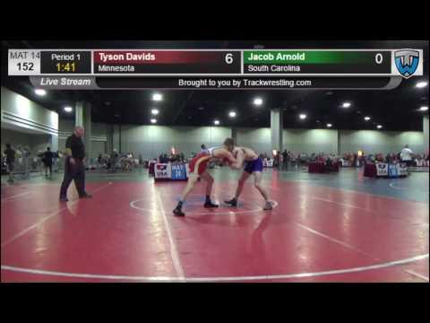 1133 Junior Men 152 Tyson Davids Minnesota vs Jacob Arnold South Carolina 3614161104
