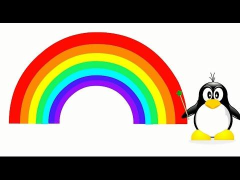 Как выглядит радуга цвета по порядку фото