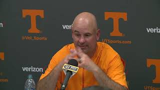 Tennessee coach Jeremy Pruitt reviews win at Auburn