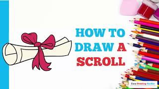 How to Draw a Scroll in a Few Easy Steps: Drawing Tutorial for Kids and Beginners