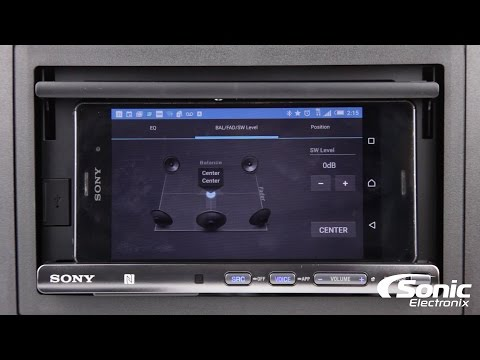 Sony XSP-N1BT Smartphone Cradle Car Stereo   Product Overview