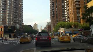 Driving on 10th ave in Manhattan,New York City