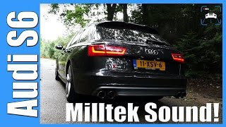 audi s6 avant 4 0 tfsi exhaust sound milltek loud revving 7000 rpm launch control flyby