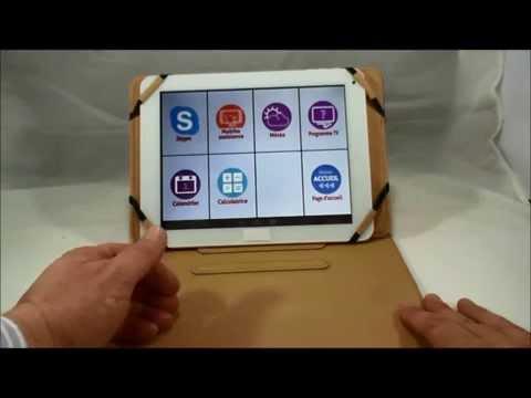 tablette tactile pour les seniors pochette retro youtube. Black Bedroom Furniture Sets. Home Design Ideas