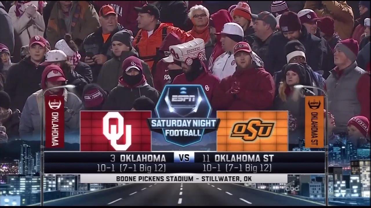 OU vs Oklahoma State 2015 - YouTube