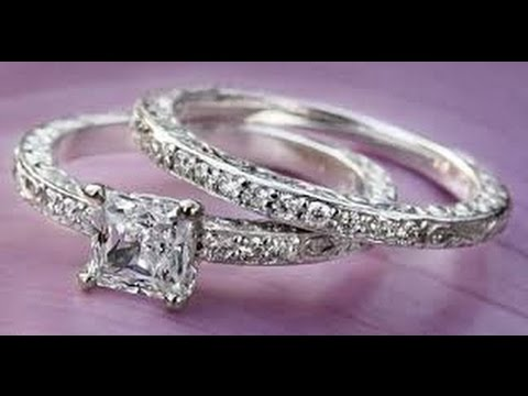 Princess Cut Engagement Rings_Cheap Vintage Princess Cut Wedding Rings