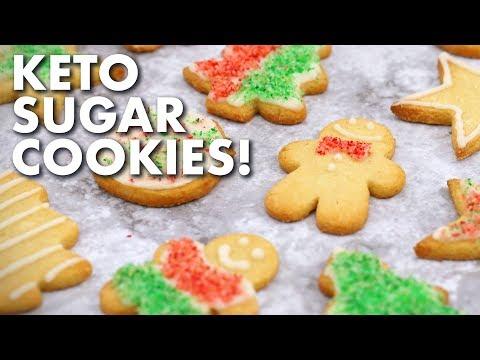 keto-sugar-cookies-with-icing-&-sprinkles!-|-keto-christmas-cookies