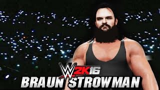 WWE 2K16 : Braun Strowman Entrance, Signature & Finisher (Creations)